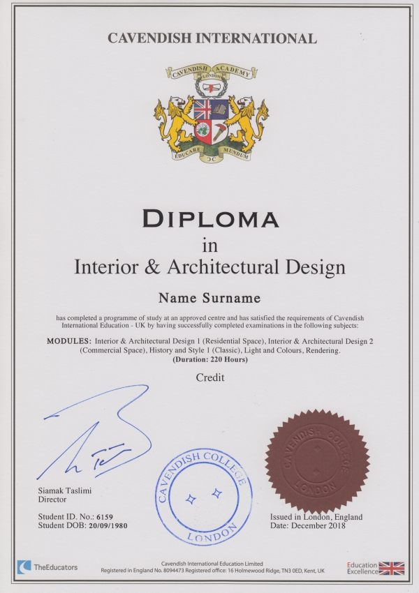 Cavendish Certification Cavendish International
